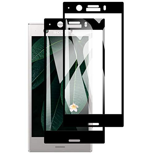 Wiestoung 2 Stück PanzerglasFolie für Sony Xperia XZ1 Compact, 3D Volle Abdeckung, 9H Härte, Anti-Kratzen, Anti-Fingerabdruck, Einfache Installation, Displayschutzfolie für Sony Xperia XZ1 Compact