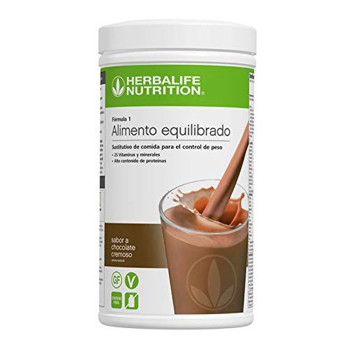 Batido Fórmula 1 Herbalife sustitutivo de comidas bajo en calorías. Rico en proteínas, vitaminas y minerales. Efecto saciante. Sabor chocolate cremoso 550 g