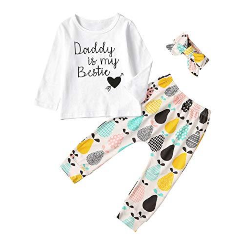 Fenverk 2Pc Neugeborenes Kinder Baby Jungs Outfits Kleider Brief T-Shirt Tops Tarnen Hose Kleinkind LangäRmlig Kapuzenpullover Sweatshirts + Hosen Outfit 0-1 Jahre(Schwarz 2,3-6 Monate)