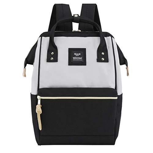 Himawari Laptop Backpack Travel Backpack With USB Charging Port Large Diaper Bag Doctor Bag School Backpack for Women&Men(9001-Gray&Black)