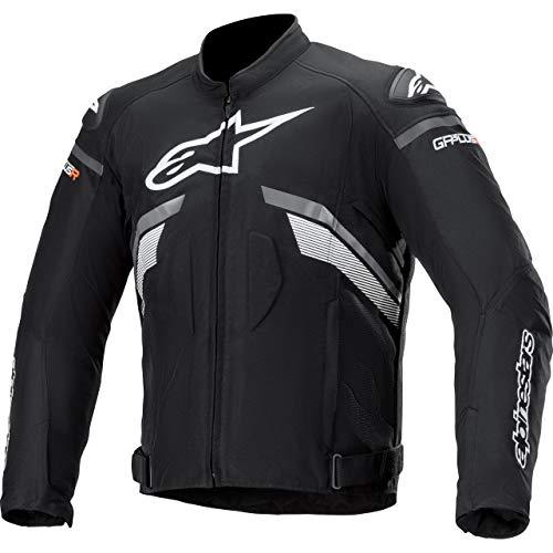 Alpinestars Motorradjacke mit Protektoren Motorrad Jacke T-GP Plus R V3 Textiljacke schwarz/dunkelgrau/weiß L, Herren, Sportler, Ganzjährig