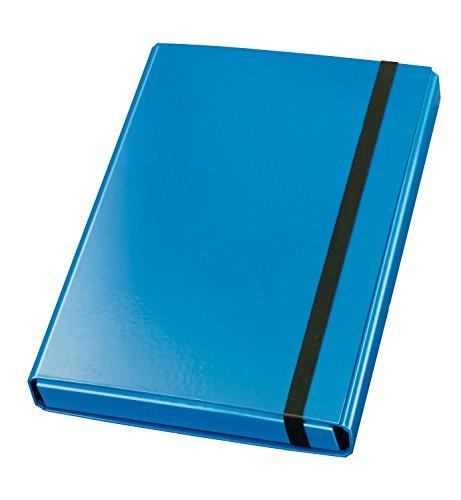 Veloflex 4443351 Sammelbox Velocolor, DIN A4, mit Gummizug, Dokumenten-Box, Heft-Box, aus Karton, blau