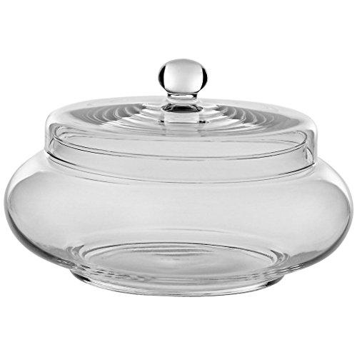 Dose mit Deckel Bomboniere Famous Candy D 21 cm H 14 cm Hochwertiges Glas Moderner Zeitloser Style