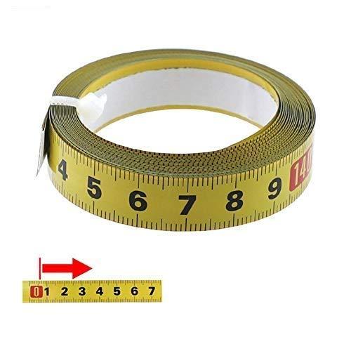 Cinta Métrica Adhesiva-cinta métrica autoadhesiva de 1 a 5 metros-con cinta adhesiva para uso doméstico de carpintero-pegatina para máquina de coser (2m adelante)