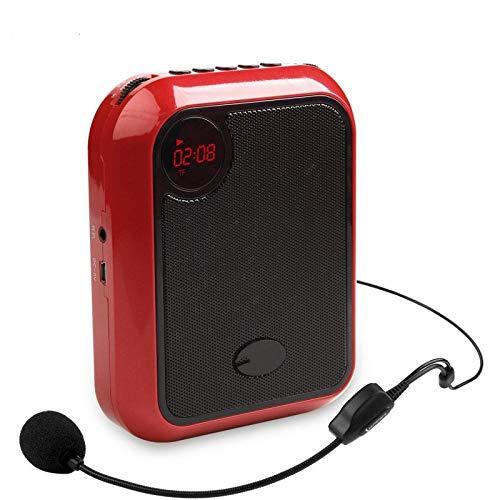 ASADVE Mini megafono Portatile Multifunzionale con Altoparlante cablato per Guida turistica per Insegnanti-Rosso