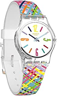 Swatch Tadelakt Dial Silicone Strap Ladies Watch LK389