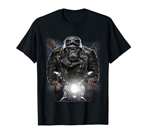 United Kingdom Patriot Gorilla Ride Motorrad Biker T-Shirt