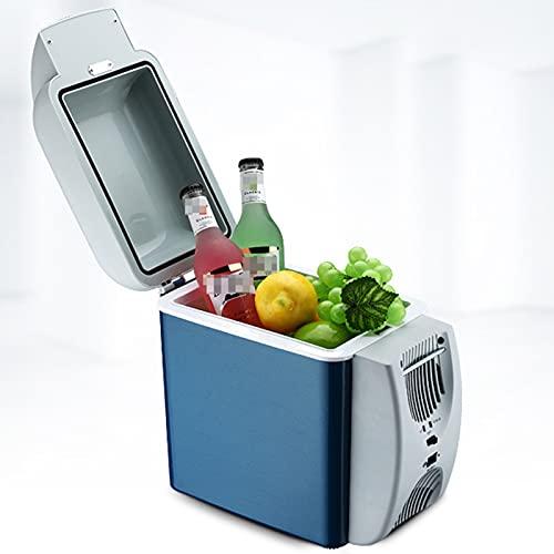 Caja de enfriador de automóviles portátiles 7,5-L, mini refrigerador eléctrico, refrigerador de doble voltaje, 1 2V / 220-240V Refrigerador de automóviles, caja eléctrica, para camping Campervan, vehí