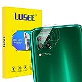 Lusee 3 Piezas Cristal Templado Lente Cámara para Huawei P40 Lite 4G Alta Definición Ultra Clara 2.5D Protector Cámara Trasera Lente Película de Pantalla