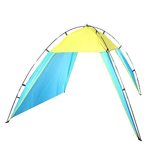 Toldo de Playa portátil Parasol UV Refugio Triángulo Tienda de campaña al Aire Libre 230 x 210 x 160/90 x 82 x 62 Pulgadas