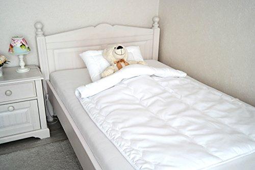 Babyset Baby Kinder Bettdecke Welle 100x135 cm mit Öko-Tex Standard 100 leichtere Decke + Kissen