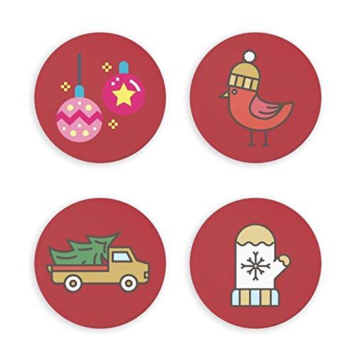 Imán de Nevera Fuerte Imanes de Nevera Elementos de Dibujos Animados de Navidad Decoraciones para el hogar Protección de Regalo Imanes de Nevera