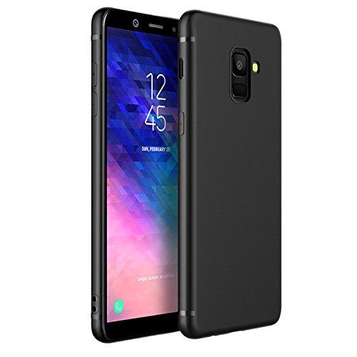 EasyAcc Hülle Case für Samsung Galaxy A6 2018, Weich TPU Matte Oberfläche Handyhülle Schutzhülle Schmaler Cover Kompatibel mit Samsung Galaxy A6 2018 / SM-A600FN - Schwarz