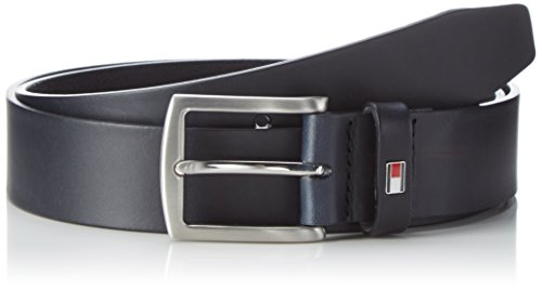 Tommy Hilfiger Herren New Denton Belt 3.5 Gürtel, Blau (Midnight 001), 100 cm