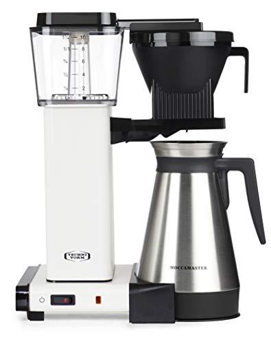 Moccamaster Filter Kaffeemaschine KBGT Thermos, 1.25 Liter, 1450 W, Off-White