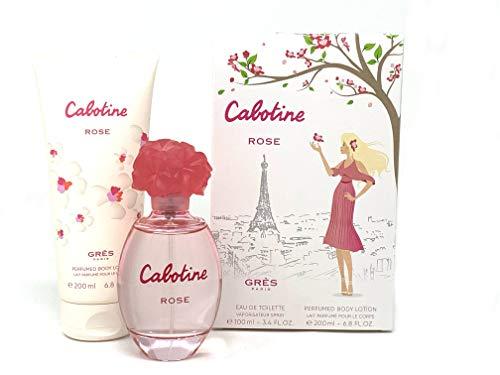 Perfumes de Mujer Set Regalo Cabotine Rose para Mujer Eau de Toilette 100 ml + Body Lotion Perfumado 200 ml Oferta Especial Colonia duradera