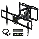 USX MOUNT Full Motion TV Wall Mount for Most 37-75 inch Flat Screen/LED/4K TVs, TV Mount Bracket Dual Swivel Articulating Tilt 6 Arms with Max VESA 600x400mm and Fits 12' 16' Studs