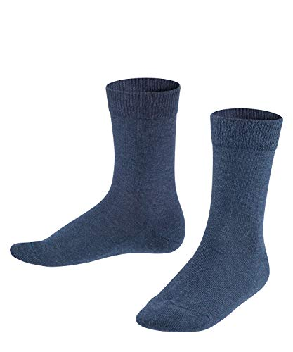 FALKE Kinder Socken Family - 94% Baumwolle, 1 Paar, Blau (Navy Blue Melange 6490), Größe: 39-42