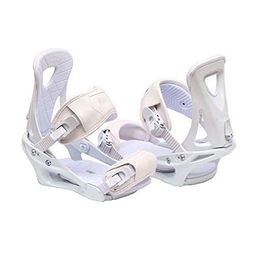 LP-LLL Zapatos de esquí Ajustables para Exteriores - Senderismo Raquetas de Nieve Zapatos de Nieve Patines de esquí para Hombres y Mujeres, Mini Patines de esquí Equipo de esquí (Blanco)