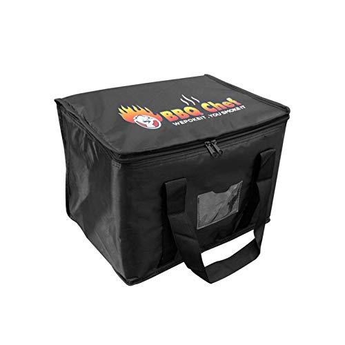 Isolierte Pizza-Liefertasche, wiederverwendbare Lebensmitteltasche, dicke Aluminiumfolie, Isolierung, Verpackung, Lebensmittel-Liefertasche, kommerzielle Wärmetasche, hält Lebensmittel warm/kalt
