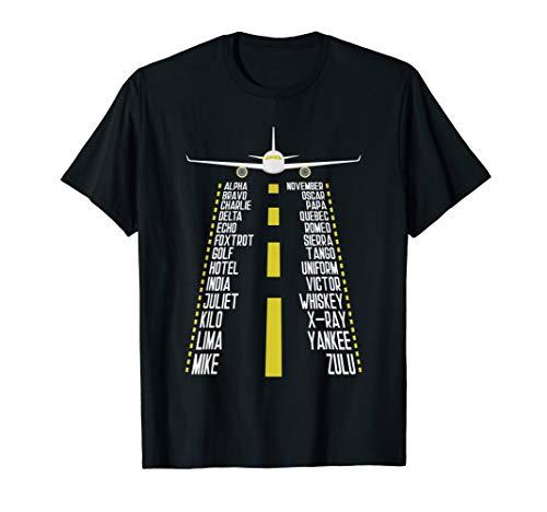 Piloten-Alphabet fürs Fliegen, Flugzeug, Flieger-Sprüche T-Shirt
