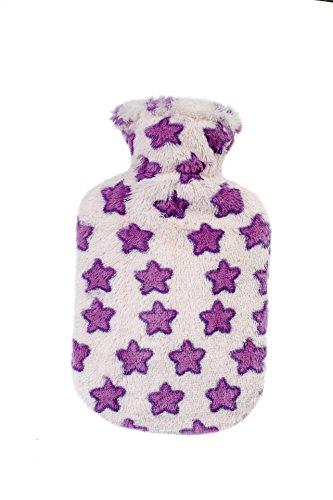 fashy Borsa dell'acqua calda con rivestimento in tessuto felpato, rosa