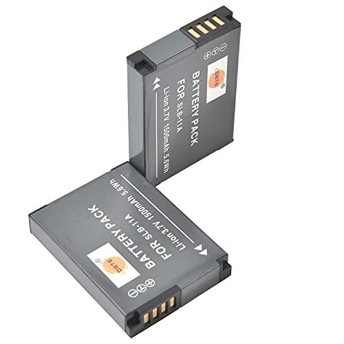 DSTE SLB-11A - Batería de repuesto para Samsung WB700, WB1000, WB2000, CL65, CL80, EX1, HZ25W, HZ30W, HZ35W, HZ50W, ST1000, ST5000, ST5500, TL240, TL320 (2 unidades) 50 TL5. 00 cámara digital.