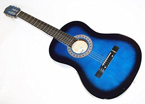 Cherrystone Konzertgitarre Akustik Gitarre Schülergitarre Größen- und Farbwahl (4/4, blueburst)