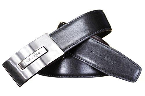 AZZARO - Ceinture 21005 Reversible Noir/Marron - Couleur Noir - Taille Ajustable