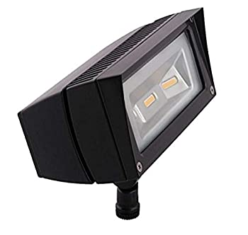 RAB Lighting FFLED18 Future Flood 18W Cool LED 120V to 277V Lamp Bronze Hardwired