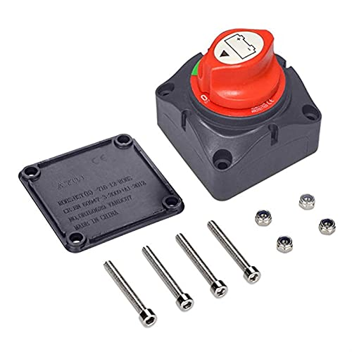 FANGFANG Want Want Lin 12V-60V 100A-300A Interruptor de Alta Corriente Coche Auto RV Barco Marino Selector de batería aislador Desconectar Interruptor Giratorio Corte 2/3 Engranajes (Color : 3 Gears)