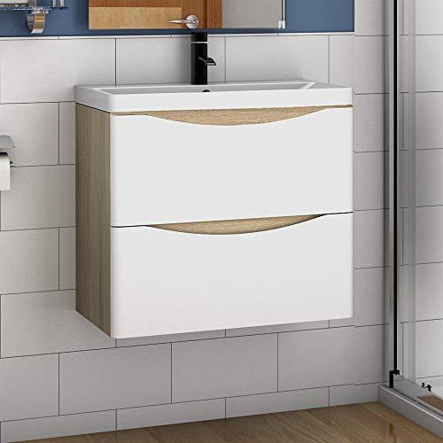Aica Sanitär Badmöbel Set 60 cm Sofia Waschbecken mit Unterschrank Waschtisch