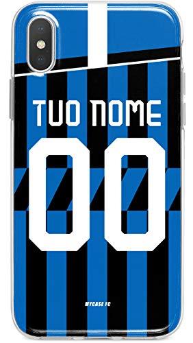 MYCASEFC Custodia Inter Milano Cover Personalizzabile in Silicone TPU per Telefono - Scegli Il Tuo Nome e Numero (Huawei P9 Plus)