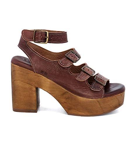 Bed|Stu Women's Jordyn Leather Wedge (7 M US, Teak Driftwood)