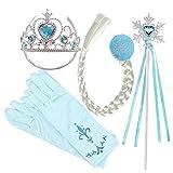 raspbery Princesse Elsa Habillage Ensemble d'accessoires de fête Ensemble de Gants...