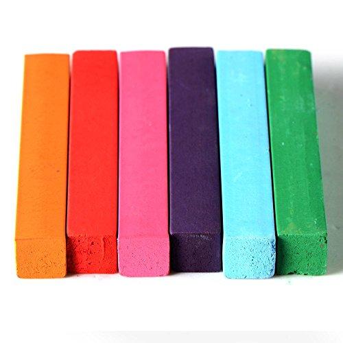 SODIAL(R) 6 Farben Haarkreide Haarfarbe Stifte ungiftig Temporaere Salon Kit Pastell mit Box