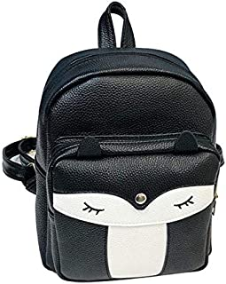 School Bags - 2019 Women Mini Fox Backpack Fashion Zipper Rucksack School Bag Travel Daypack Cute