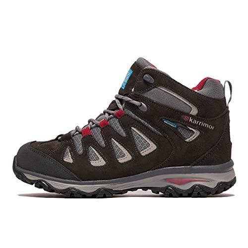 Karrimor Women s Isla Mid Ladies Weathertite Black High Rise Hiking Boots, Black C Pink, 5 UK
