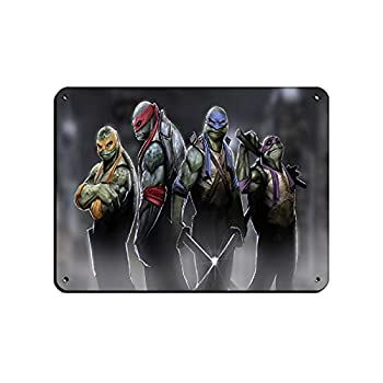 Teenage Mutant Ninja Turtles Poster01 Retro Poster Metal Tin Sign Chic Art Retro Iron Painting Bar People Cave Cafe Family Garage Poster Wall Decoration 12×16inch 30×40cm