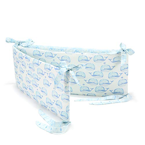 La Millou Nestchen für Kinderbett (White Moby/Waves)