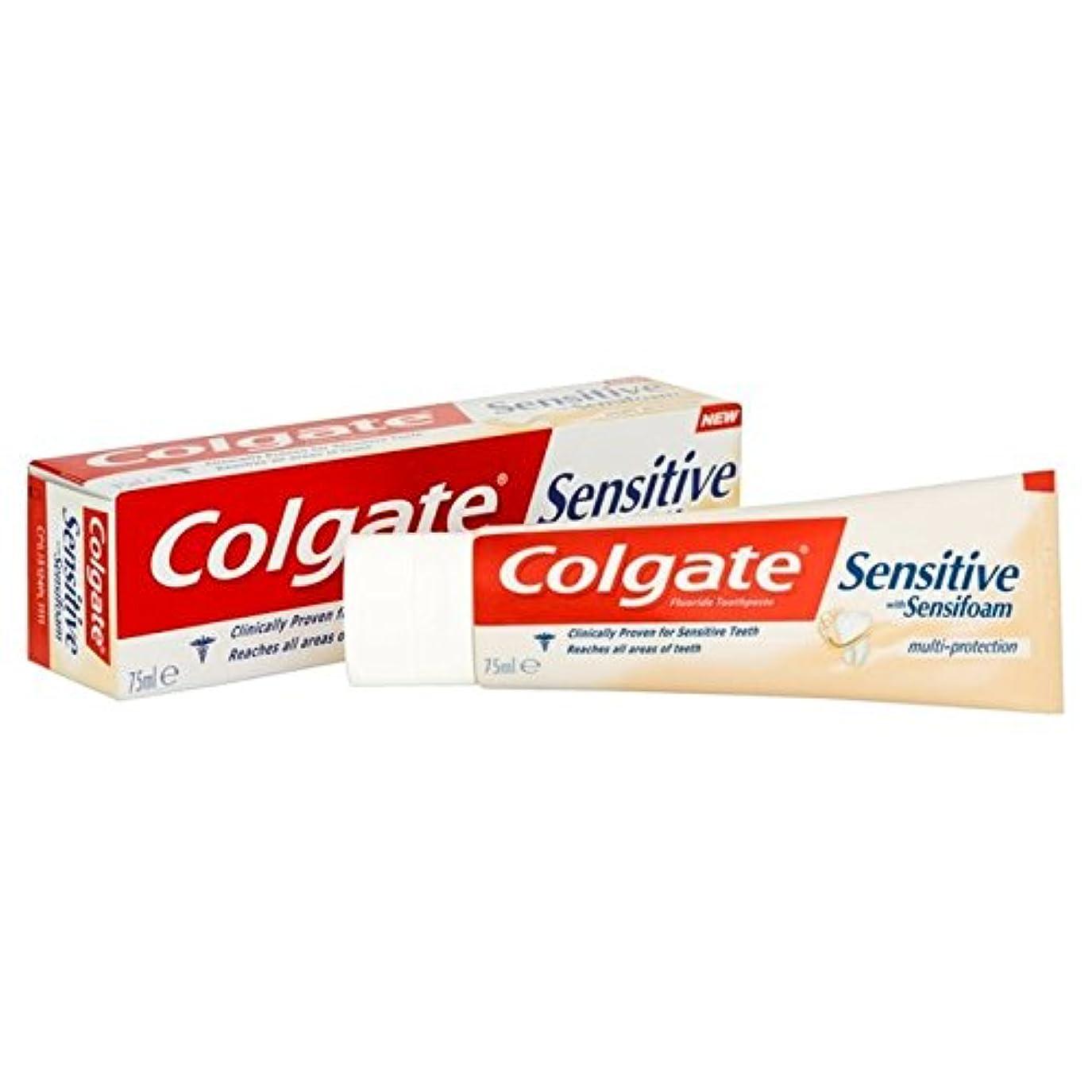 発明大きなスケールで見ると封筒コルゲート敏感な泡は、マルチ歯磨き粉75ミリリットルを保護します x2 - Colgate Sensitive Foam Multi Protect Toothpaste 75ml (Pack of 2) [並行輸入品]