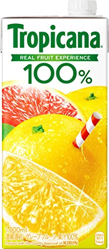 トロピカーナ 100% グレープフルーツ 1000ml×6本 紙パック
