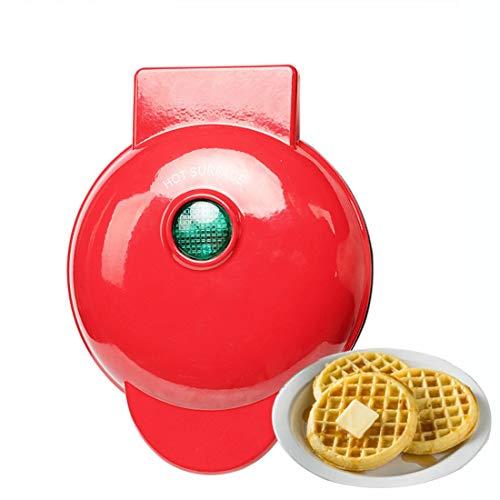 HBGGGGG Molde para Hacer Pasteles Plancha eléctrica Redonda, Mini Waffle máquina Pan...