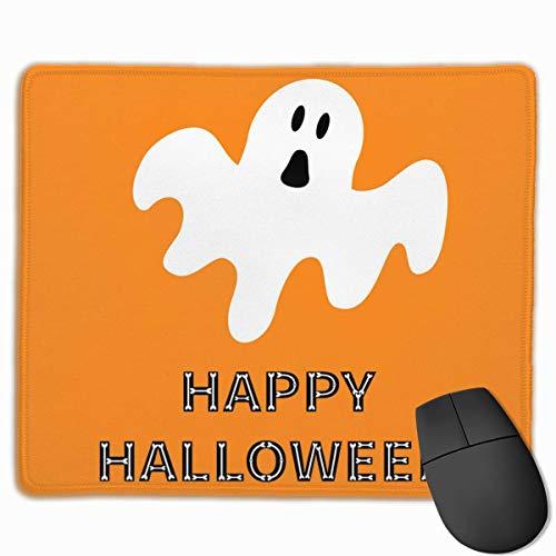 Funny-Flying-Ghost-Happy-Halloween-Bone-TextNon-Slip Mauspad, Mauspad für Büro und Zuhause