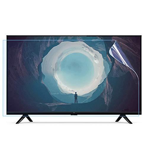 WLWLEO Protector de Pantalla de TV de 55 Pulgadas Película Protectora Mate antideslumbrante Filtro Anti luz Azul & UV Reducir la Fatiga Ocular Proteger la Vista, Suaviza la luz,55'1211X682mm