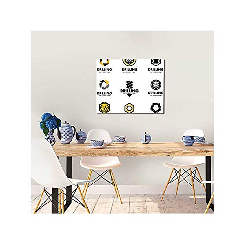 C COABALLA Set ofdesign Elements for The Tool,Art Painting Wall Artwork Modern Oil Painting Print on Canvas for Living Decor Drill bit 12x16inch(HxW)