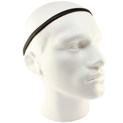 Fußball-Haarbänder für Herren, dick, elastisch, 3Stück, schwarz, Einheitsgröße