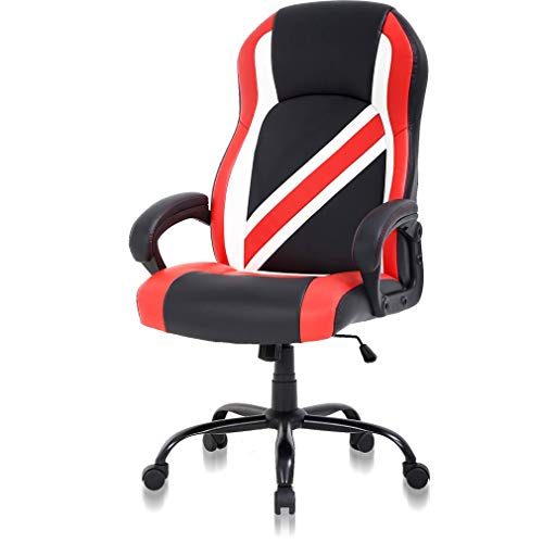 High Back Big & Tall 500lb Gaming Chair Wide Seat Ergonomic Racing Heavy Duty Office Chair Reclining Pc Video Game Chair, Lumbar Support with Arms Chic Desk Chair, Swivel Adjustable Best Office Chair