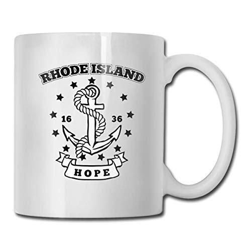 Taza con bandera de Hope Island, taza de café para bebidas calientes, taza de gres, taza de café de cerámica, taza de té de 11 oz, divertida taza de regalo para té y café