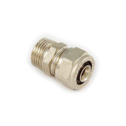 Tiemme serie 1600 raccordo diritto niples maschio M 16 x 1/2 a stringere per tubo multistrato